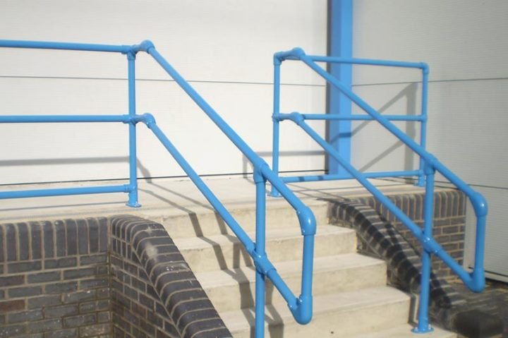 Kee Klamp handrails for slopes, stairs and inclines