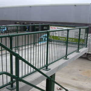 Kee Klamp safety railings are quick and easy to construct