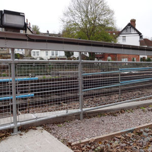 Kee Klamp safety barriers for railways