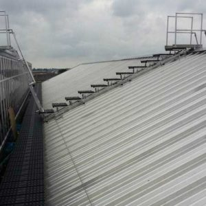 Kee Walk stepped rooftop walkway system for safe access across roofs